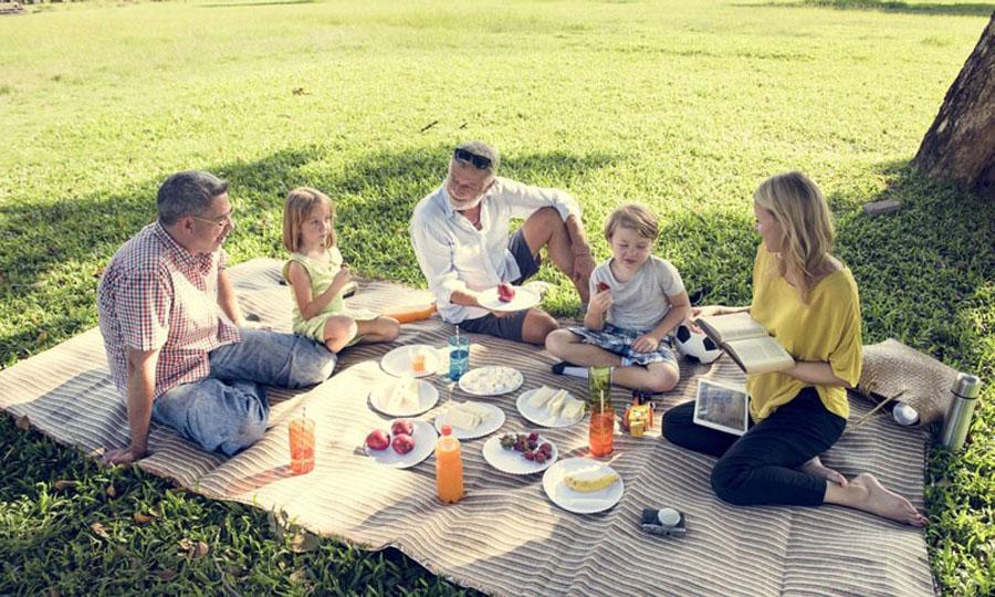 Пикник на природе с семьёй.