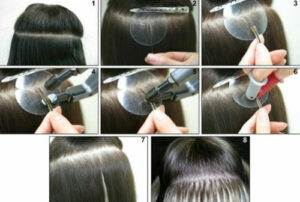 Как происходит наращивание волос.