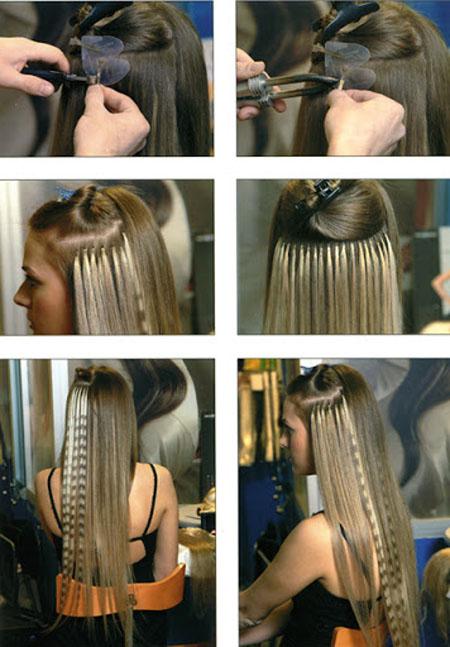 Технология наращивания волос.