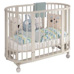 круглая детская кроватка трансформер